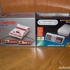 Videojuegos y Consolas: LOTE DE CAJAS DE NINTENDO NES CLASSIC MINI + FAMICOM MINI, JUNTO A SUS CARTONES INTERIORES. Lote 96194523