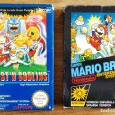 Videojuegos y Consolas: LOTE SUPER MARIO BROS 1 Y GHOST N' GOBLINS NINTENDO NES. Lote 105597503
