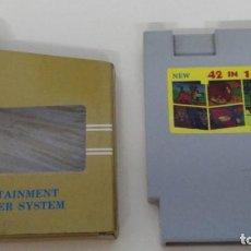 Videojuegos y Consolas: NINTENDO NES JUEGO CLONICO DE 42 JUEGOS EN 1. Lote 109549131