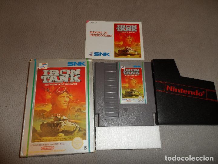 NINTENDO NES IRON TANK PAL B COMPLETO (DIFÍCIL) (Juguetes - Videojuegos y Consolas - Nintendo - Nes)