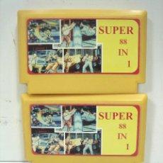 Videojogos e Consolas: 2 X CARTUCHO MULTIJUEGOS-CONSOLA FAMICOM - 88 EN 1 - NINTENDO NES VIDEO JUEGO VIDEOJUEGO MULTI. Lote 117758443