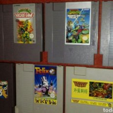 Videojuegos y Consolas: 7 NES NINJA TURTLES 3 III BUCKY O'HARE FELIX CAT CHIP DALE MEGAMAN 3 TORTUGAS NINJA. Lote 120728667