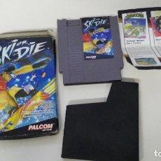 Videojuegos y Consolas: JUEGO PARA NINTENDO NES SKI OR DIE. Lote 120932495