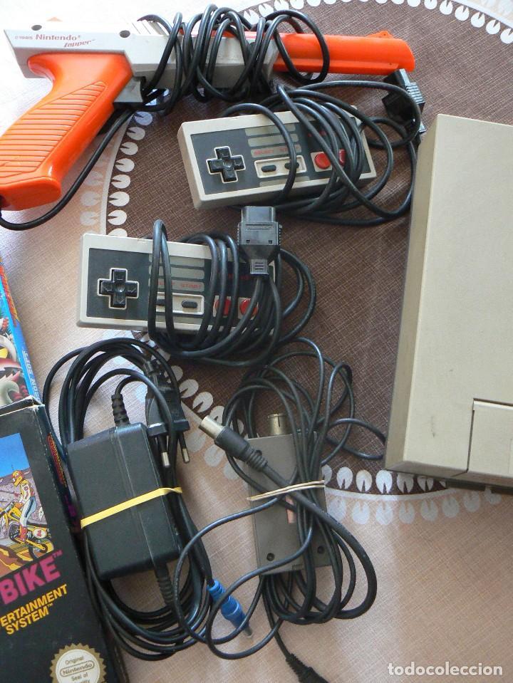 Videojuegos y Consolas: NINTENDO ENTERTAINMENT SISTEM.VERSION ESPAÑOLA.MODELO NO.:NESE-001. 1987 - Foto 3 - 122656495