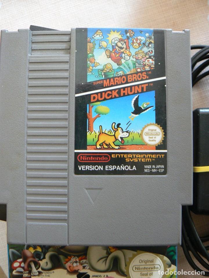 Videojuegos y Consolas: NINTENDO ENTERTAINMENT SISTEM.VERSION ESPAÑOLA.MODELO NO.:NESE-001. 1987 - Foto 9 - 122656495