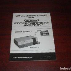 Videojuegos y Consolas: MANUAL INSTRUCCIONES NINTENDO NES - VERSION ESPAÑLA - EXCELENTE. Lote 123427479