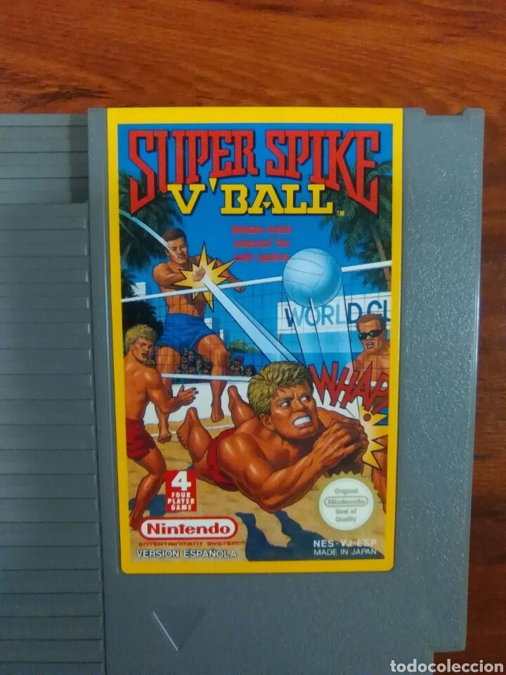 SUPER SPIKE V'BALL - VOLEIBOL - NINTENDO - NES - BUEN ESTADO (Juguetes - Videojuegos y Consolas - Nintendo - Nes)