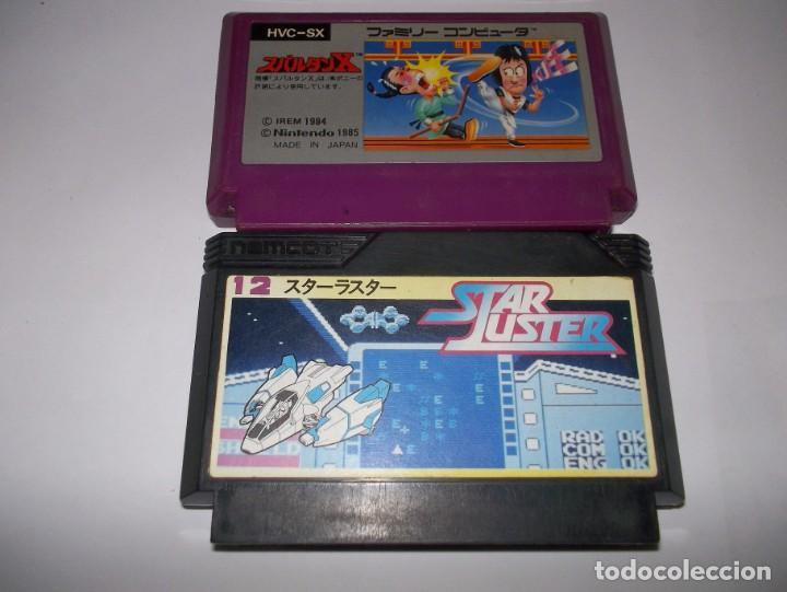 NINTENDO LOTE NES FAMICOM STAR LUSTER Y SPARTAN X ( KUNG FU MASTER ) (Juguetes - Videojuegos y Consolas - Nintendo - Nes)