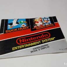Videojuegos y Consolas: MANUAL INSTRUCCIONES DUCK HUNT + SUPER MARIO ( NINTENDO NES). Lote 133539534