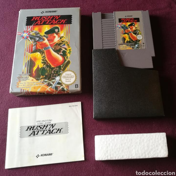 RUSHN ATTACK NINTENDO NES ! MITICO BUEN ESTADO COMPLETO Y DIFICILISIMO ! ESCUCHO OFERTAS SERIAS! (Juguetes - Videojuegos y Consolas - Nintendo - Nes)