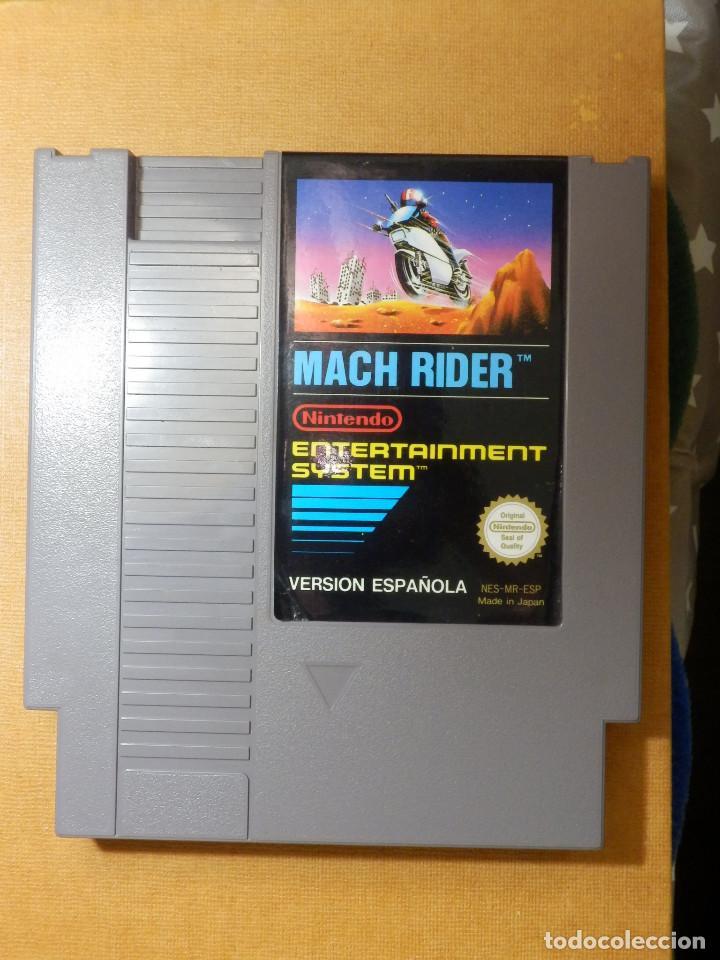 Videojuegos y Consolas: Antiguo Juego de Consola para Nintendo NES - Mach Rider - Versión Española - C/ Funda - Foto 2 - 229549715