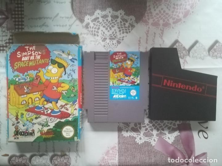 Videojuegos y Consolas: THE SIMPSONS BART VS THE SPACE MUTANTS NES - Foto 2 - 140686994