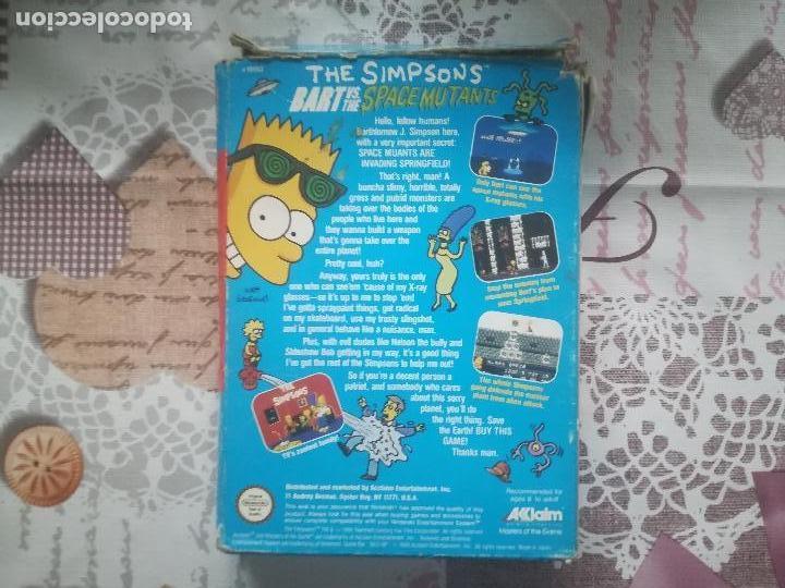 Videojuegos y Consolas: THE SIMPSONS BART VS THE SPACE MUTANTS NES - Foto 3 - 140686994
