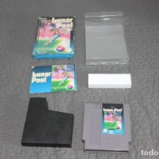 Videojuegos y Consolas: JUEGO LUNAR POOL NES COMPLETO+ FUNDA. Lote 144554810