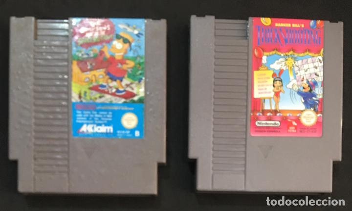 LOTE JUEGO CONSOLA NINTENDO NES BARKER BILL´S TRICK SHOOTING THE SIMPSONS BART VS THE SPACE MUTANTS (Juguetes - Videojuegos y Consolas - Nintendo - Nes)