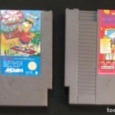 Videojuegos y Consolas: LOTE JUEGO CONSOLA NINTENDO NES BARKER BILL´S TRICK SHOOTING THE SIMPSONS BART VS THE SPACE MUTANTS. Lote 147978346