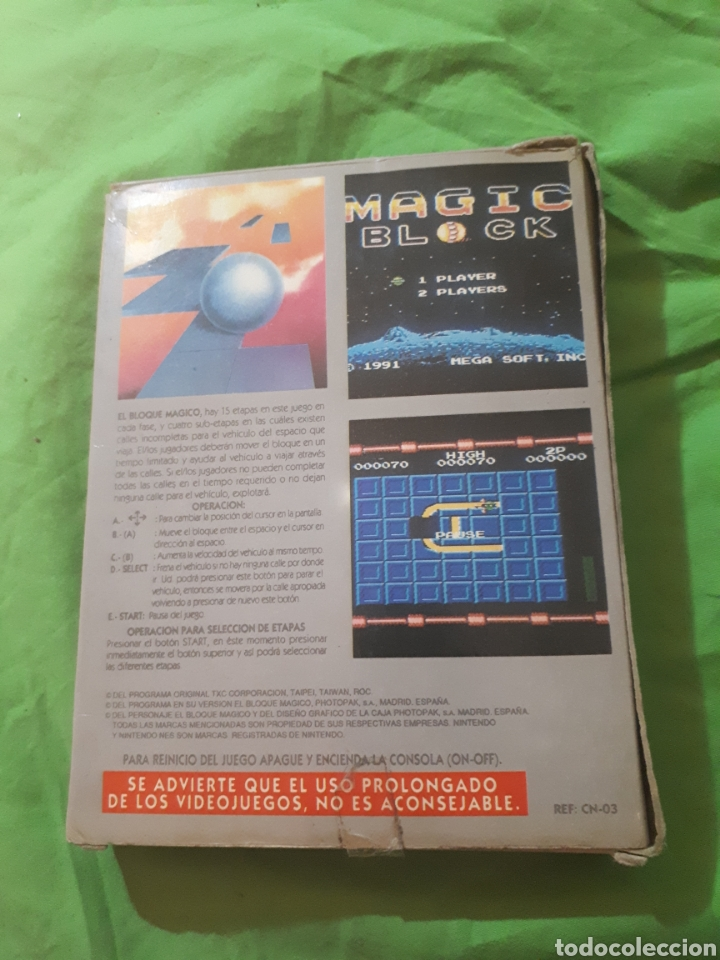 Videojuegos y Consolas: Juego para nintendo nes EL BLOQUE MAGICO EN CAJA - Foto 3 - 150568050