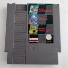 Videojuegos y Consolas: 3X1 JUEGOS DE NINTENDO NES TETRIS MARIO BROS WORD CUP. Lote 154166286