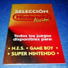 Videojuegos y Consolas: NINTENDO ACCION - GUIA TODOS LOS JUEGOS DISPONIBLES PARA NES GAMEBOY Y SUPER NINTENDO - BOX31. Lote 156611386