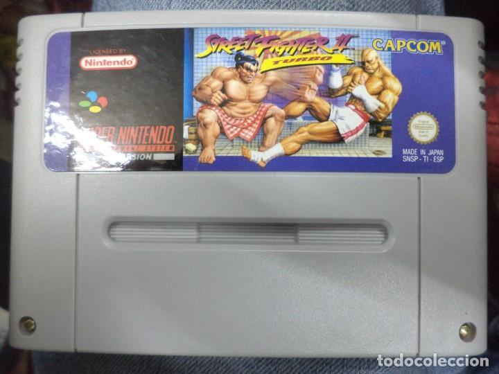VIDEO JUEGO STREET FIGHTER II TURBO.PARA SUPER NINTENDO SNES.PAL VERSIÓN ESPAÑA.SIN CAJA. (Juguetes - Videojuegos y Consolas - Nintendo - Nes)