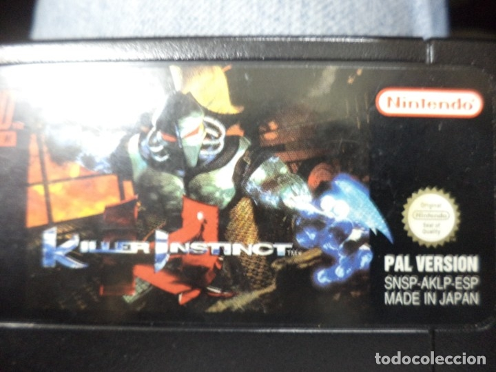 Videojuegos y Consolas: Video juego Killer Instinct para Super Nintendo SNES.Pal version España.Sin caja. - Foto 2 - 172690045