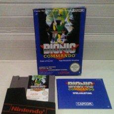 Videojuegos y Consolas: BIONIC COMMANDO NES NINTENDO COMPLETO. Lote 158384694