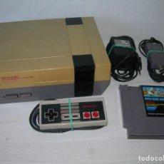Videojuegos y Consolas: CONSOLA NINTENDO NES CON SUS CABLES, MANDO Y JUEGO SUPER MARIO BROS - TODO ORIGINAL - LEER -. Lote 176681563
