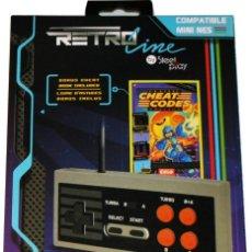 Videojuegos y Consolas: NES NINTENDO CLASSIC MINI GAMEPAD MANDO TURBO EDGE 2,70 METROS Y LIBRO CHEAT TRUCOS NUEVO . Lote 168824880