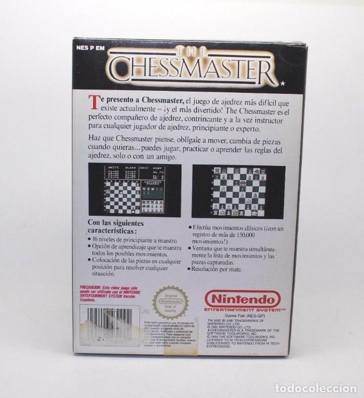 Videojuegos y Consolas: THE CHESSMASTER NINTENDO NES PAL ESP - Foto 6 - 169723376
