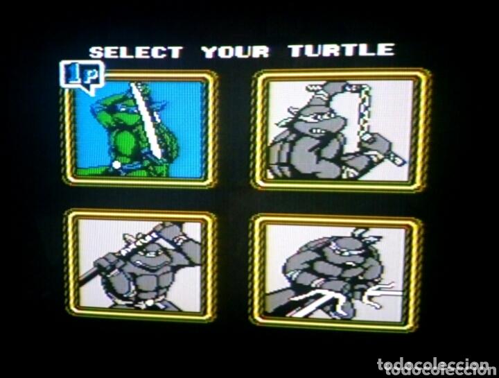 Videojuegos y Consolas: Cartucho NTDE (60 pins) - LAS TORTUGAS NINJA - clónico Nintendo NES - (TEENAGE MUTANT HERO TURTLES) - Foto 4 - 172567195