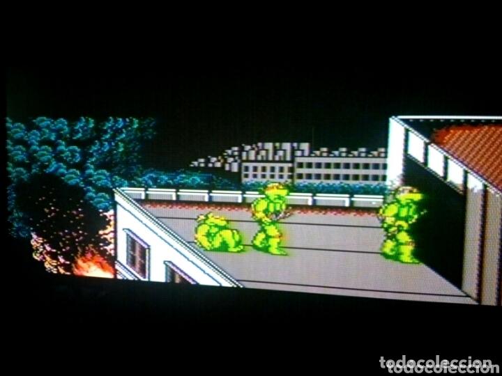 Videojuegos y Consolas: Cartucho NTDE (60 pins) - LAS TORTUGAS NINJA - clónico Nintendo NES - (TEENAGE MUTANT HERO TURTLES) - Foto 6 - 172567195