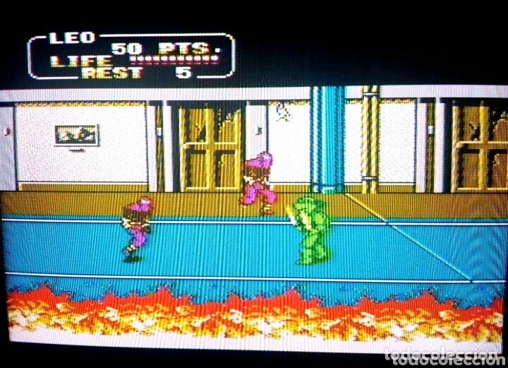Videojuegos y Consolas: Cartucho NTDE (60 pins) - LAS TORTUGAS NINJA - clónico Nintendo NES - (TEENAGE MUTANT HERO TURTLES) - Foto 7 - 172567195