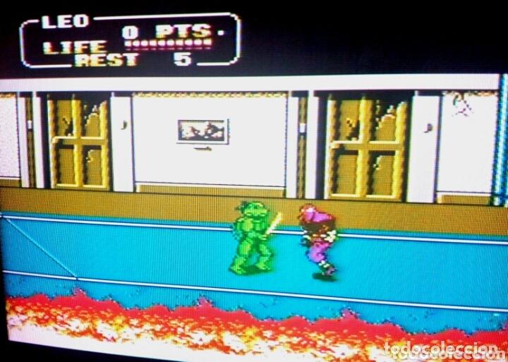 Videojuegos y Consolas: Cartucho NTDE (60 pins) - LAS TORTUGAS NINJA - clónico Nintendo NES - (TEENAGE MUTANT HERO TURTLES) - Foto 8 - 172567195
