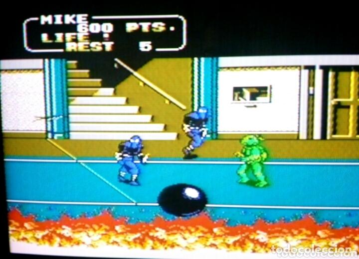 Videojuegos y Consolas: Cartucho NTDE (60 pins) - LAS TORTUGAS NINJA - clónico Nintendo NES - (TEENAGE MUTANT HERO TURTLES) - Foto 9 - 172567195