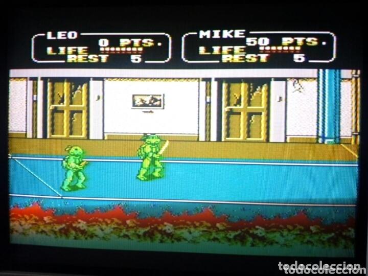 Videojuegos y Consolas: Cartucho NTDE (60 pins) - LAS TORTUGAS NINJA - clónico Nintendo NES - (TEENAGE MUTANT HERO TURTLES) - Foto 10 - 172567195