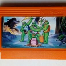 Videojuegos y Consolas: CARTUCHO NTDE (60 PINS) - LAS TORTUGAS NINJA - CLÓNICO NINTENDO NES - (TEENAGE MUTANT HERO TURTLES). Lote 172567195