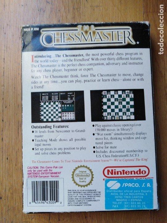 Videojuegos y Consolas: Juego Nintendo Nes The Chessmaster - Foto 4 - 173971965