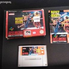 Videojuegos y Consolas: JUEGO SÚPER NINTENDO BEST OF BEST KARATE. Lote 174045504