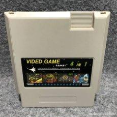 Videojuegos y Consolas: 4 IN 1 CARTUCHO CLONICO NINTENDO NES. Lote 174274929