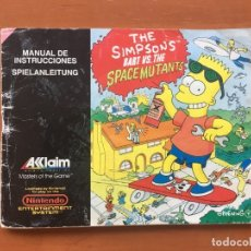 Videojuegos y Consolas: MANUAL THE SIMPSONS BART VS. THE SPACE MUTANTS DE NES. Lote 178084814
