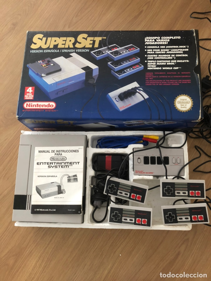 Videojuegos y Consolas: NINTENDO NES SUPER SET PAL ESPAÑA- FOUR SCORE - 4 MANDOS 80´S RETRO - Foto 2 - 179253687