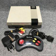 Videojuegos y Consolas: CONSOLA NINTENDO NES CLONICA+MANDO+AV+AC. Lote 180046446