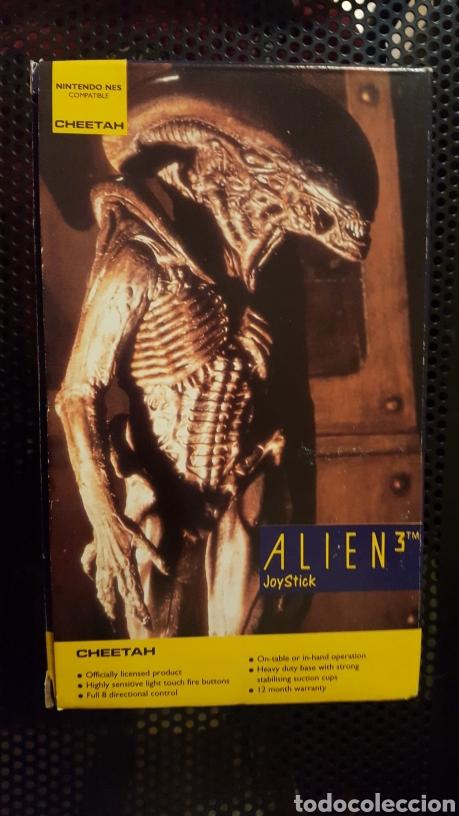 Videojuegos y Consolas: Joystick Cheetah de Alien III especial para Nintendo por ERBE software 1992 en caja - Foto 2 - 185874447