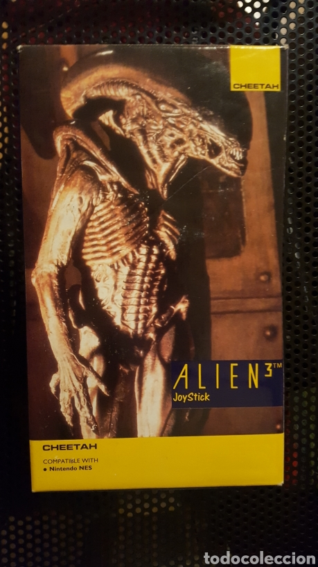 Videojuegos y Consolas: Joystick Cheetah de Alien III especial para Nintendo por ERBE software 1992 en caja - Foto 4 - 185874447