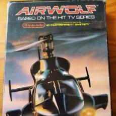 Videojuegos y Consolas: AIRWOLF - NINTENDO NES PAL ESPAÑA- FUNCIONANDO EN CAJA. Lote 189343300