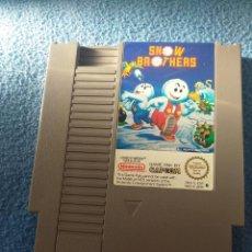 Jeux Vidéo et Consoles: JUEGO SNOW BROTHERS NES. Lote 191271428