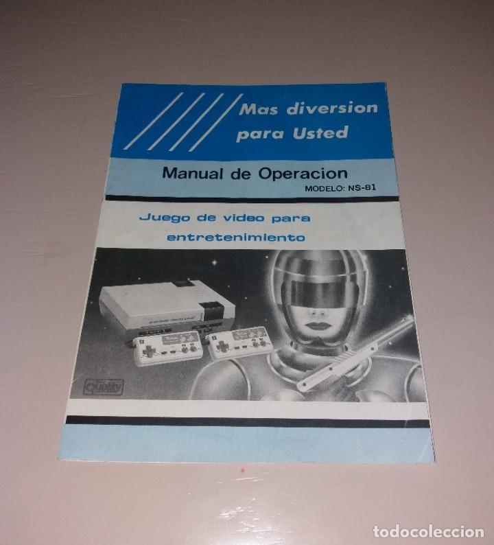 MANUAL DE INSTRUCCIONES. CONSOLA DE VIDEOJUEGOS TIPO NES (NS-81) (Juguetes - Videojuegos y Consolas - Nintendo - Nes)