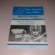 Videojuegos y Consolas: MANUAL DE INSTRUCCIONES. CONSOLA DE VIDEOJUEGOS TIPO NES (NS-81). Lote 191408720