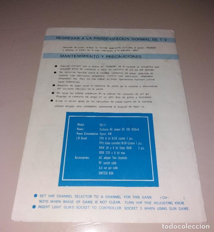 Videojuegos y Consolas: Manual de instrucciones. Consola de videojuegos tipo Nes (NS-81) - Foto 3 - 191408720