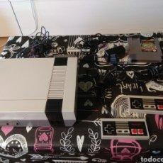 Videojuegos y Consolas: NINTENDO NES, CABLES, 2MANDOS Y CARTUCHO HIGH SPEED. Lote 192923442